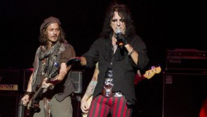 Johnny Depp e Alice Cooper